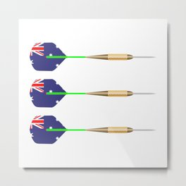 Australian Darts Flag Set Metal Print