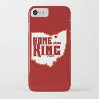 lebron iPhone & iPod Cases featuring Home of the King (White) by Denise Zavagno