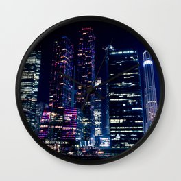 Moscow Skyscrapers Wall Clock