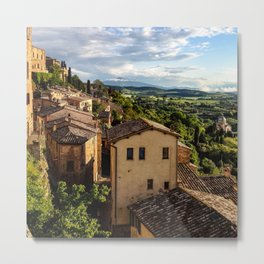 Italy Photography - Old Houses In Italy Metal Print