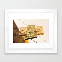 The Continental Club Framed Art Print