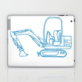 Mechanical Digger Mono Line Laptop & iPad Skin