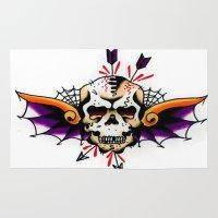 tatoo Area & Throw Rugs featuring Tatoo ART 7 by The Greedy Fox