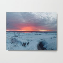 Frozen Shoreline Metal Print