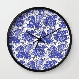 Pegasus Pattern Blue Wall Clock