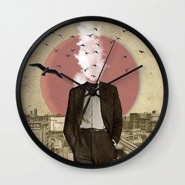 Hot Under The Collar Wall Clock