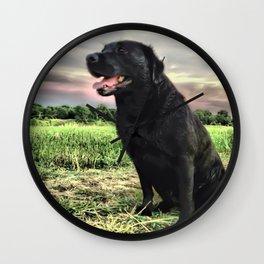 Labrador at Dusk Wall Clock