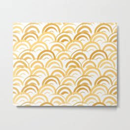 Watercolor Arches in Gold Metal Print