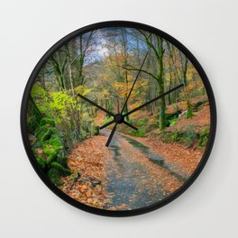 Autumn Forest Snowdonia Wall Clock