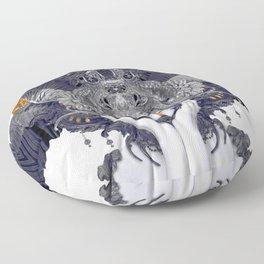 Black Feathers Floor Pillow