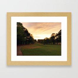 Down The Fairway Framed Art Print