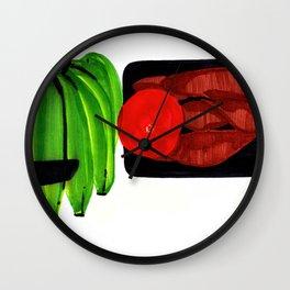 Bananas and Yam Wall Clock