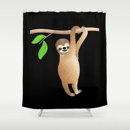 Sloth Just Hanging Out Shower Curtain