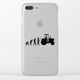 Farmer Evolution Tractor Retro Look Clear iPhone Case