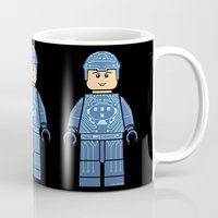 tron Mugs featuring Tron Lego by Ant Atomic