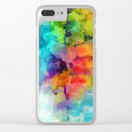 Floral Fantasy Clear iPhone Case