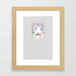 Animalfree circuses - Tiger Framed Art Print