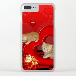 Cute, playing kitten Clear iPhone Case