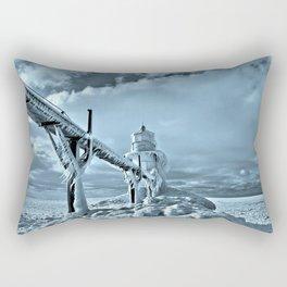 Frozen Lighthouse In Saint Joseph Rectangular Pillow