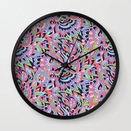 Foral design Wall Clock