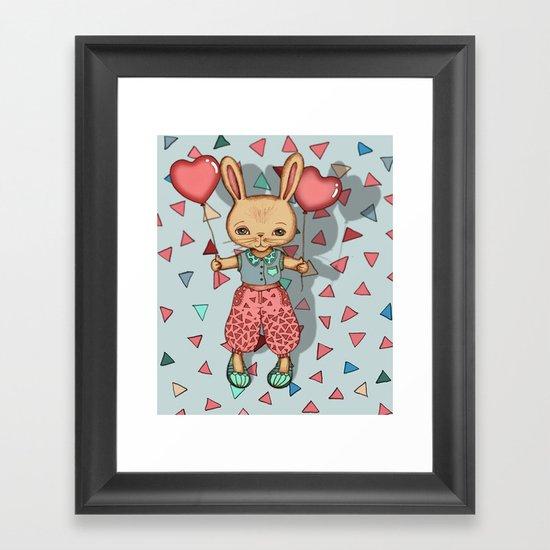 SomeBunny Loves You Framed Art Print