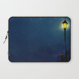 The Light Post and the Cat Laptop Sleeve