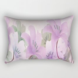 Lavendar Lilies Rectangular Pillow
