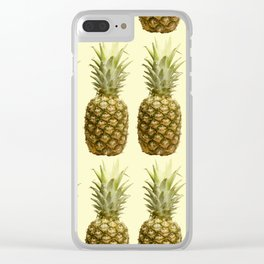 Pineapple #1 Clear iPhone Case