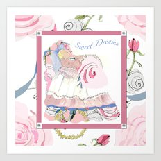 Baby Sarah sweet dreams Art Print