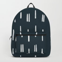 Chalk Lines || Navy Backpack
