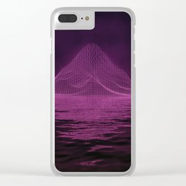 WireFrame Mountain on the Lake Clear iPhone Case
