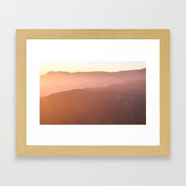 San Bernardino Mountain Sunset Framed Art Print
