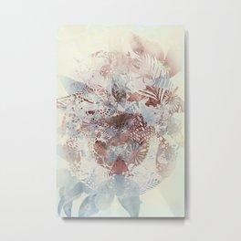 Abstract Botanical Metal Print