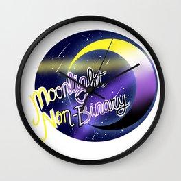 Non-Binary Moonlight Pride Wall Clock