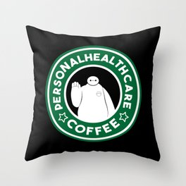 Personal Healthcare Coffee Throw Pillow