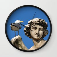 angels Wall Clocks featuring Angels... by PandaTheGreat