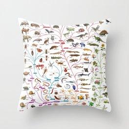 Darwinian Evolution The Tree of Life Throw Pillow