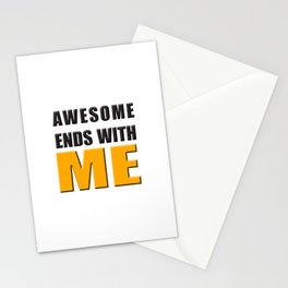 Awesome Ends With ME Stationery Cards