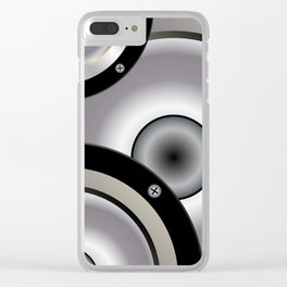 Speaker Music Background Clear iPhone Case