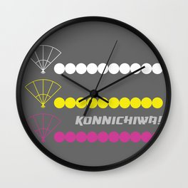 Konnichiwa 3 Wall Clock