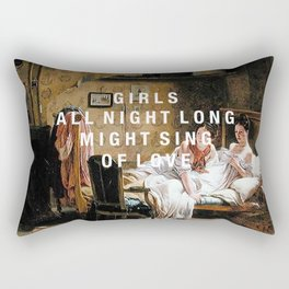 girls all night long Rectangular Pillow