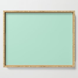 Mint Green Pastel Solid Color Block Spring Summer Serving Tray