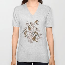 Too many birds Unisex V-Neck