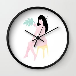 There She Was Just Sitting There Wall Clock