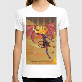 female demon with trident T-shirt
