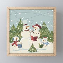 Christmas Song / Snowmen Framed Mini Art Print