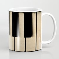 piano Mugs featuring Piano by Sweet Moments Captured
