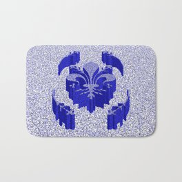 Florentine Blue Garden Bath Mat