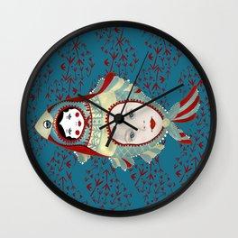 Petrol Blue Mermaidoska Wall Clock