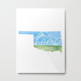 Oklahoma Home State Metal Print